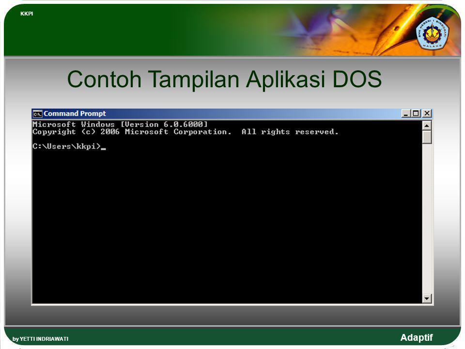 Contoh Tampilan Aplikasi DOS