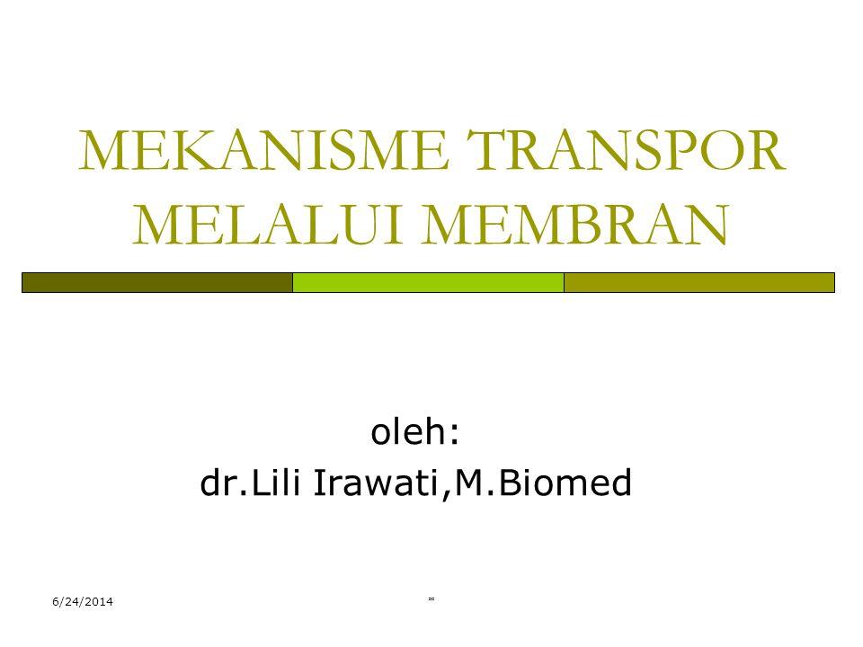 MEKANISME TRANSPOR MELALUI MEMBRAN