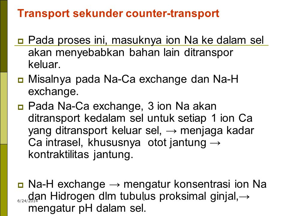 Transport sekunder counter-transport