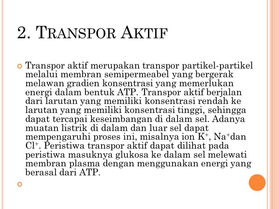 2. Transpor Aktif