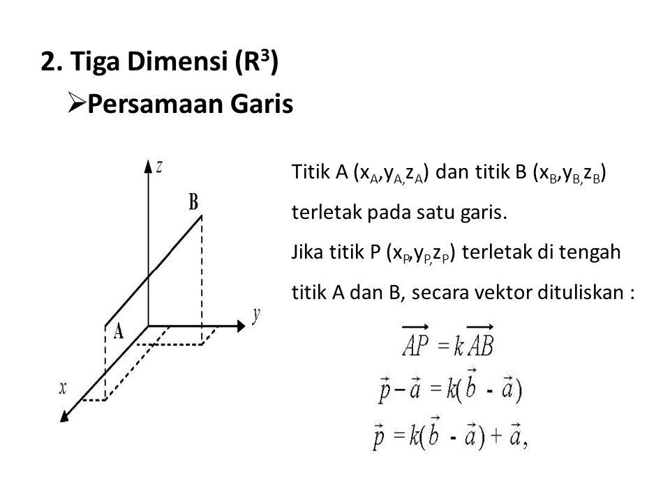 2. Tiga Dimensi (R3) Persamaan Garis