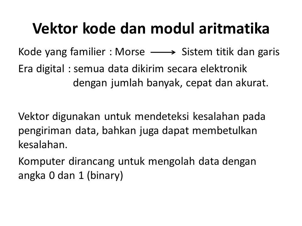 Vektor kode dan modul aritmatika