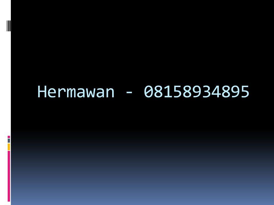 Hermawan - 08158934895