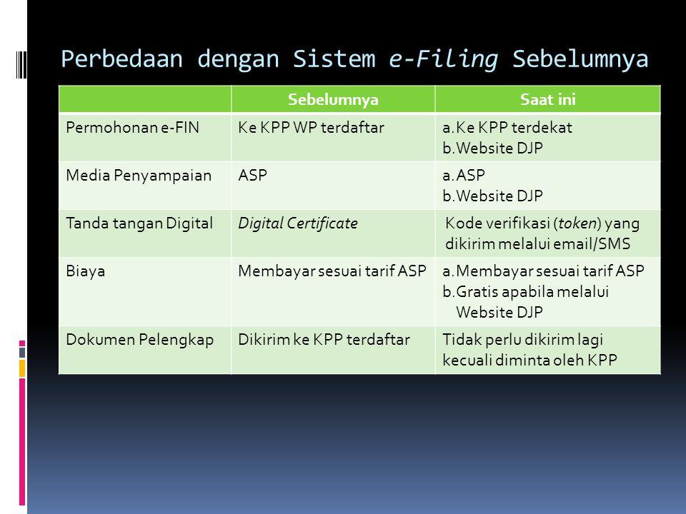 Perbedaan dengan Sistem e-Filing Sebelumnya