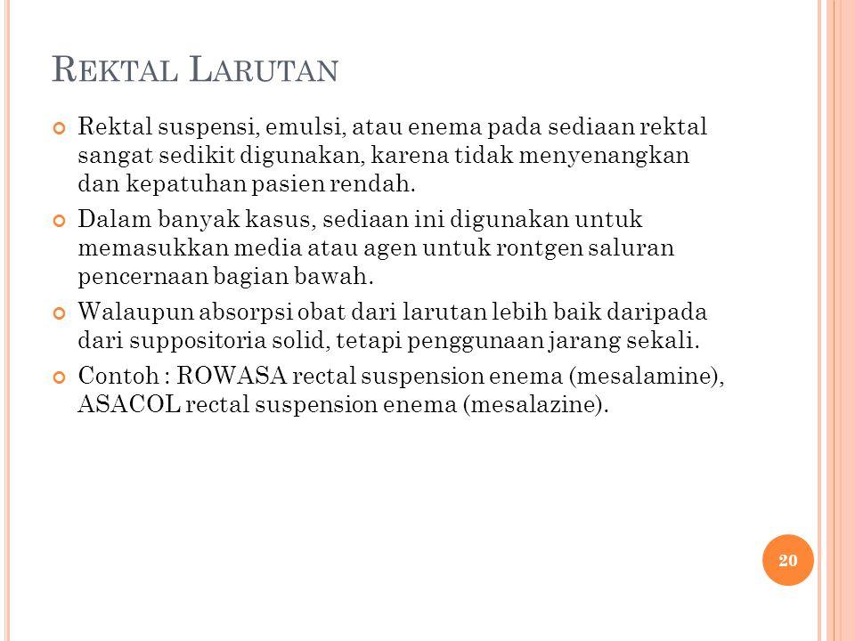 Rektal Larutan