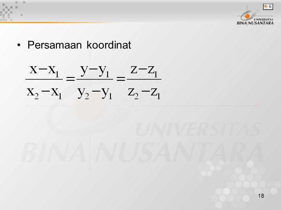 Persamaan koordinat