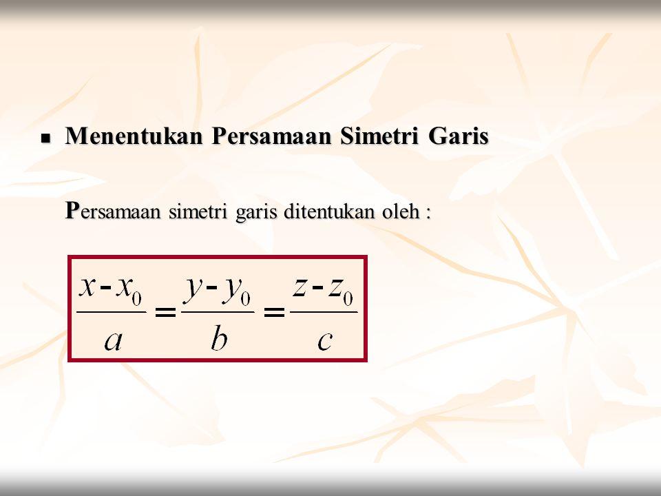 Menentukan Persamaan Simetri Garis