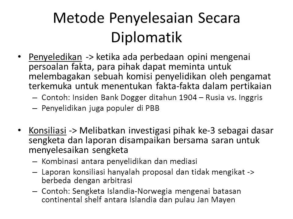 Metode Penyelesaian Secara Diplomatik
