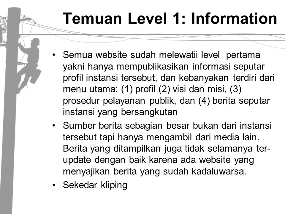 Temuan Level 1: Information