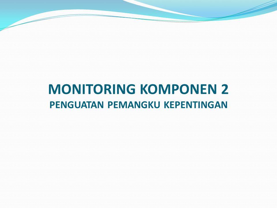 MONITORING KOMPONEN 2 PENGUATAN PEMANGKU KEPENTINGAN