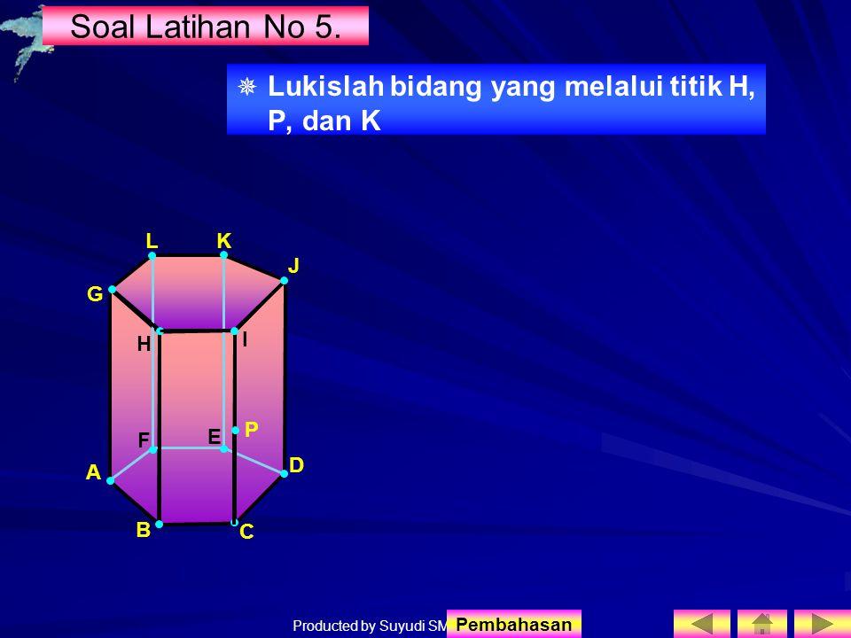Soal Latihan No 5. Lukislah bidang yang melalui titik H, P, dan K L K