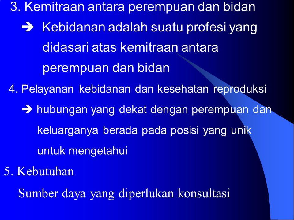 3. Kemitraan antara perempuan dan bidan
