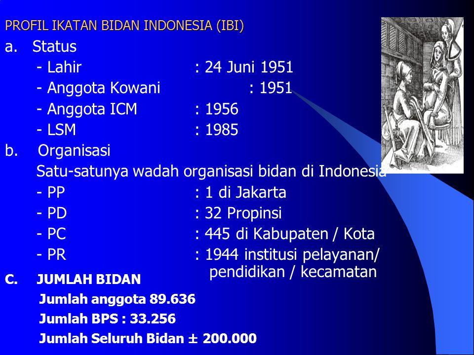 PROFIL IKATAN BIDAN INDONESIA (IBI)