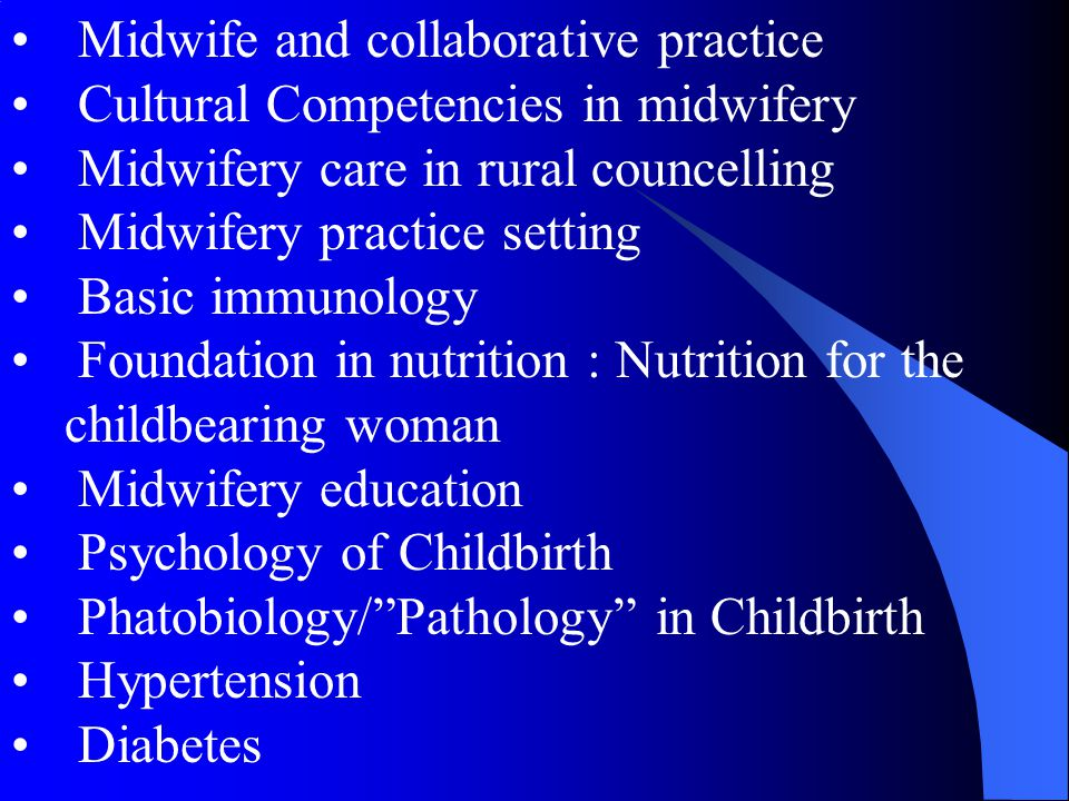 Midwife and collaborative practice