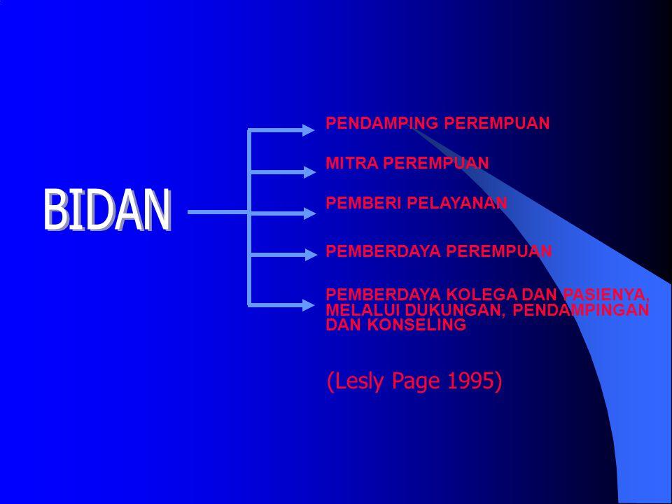 BIDAN (Lesly Page 1995) PENDAMPING PEREMPUAN MITRA PEREMPUAN