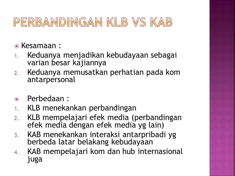 PERBANDINGAN KLB VS KAB