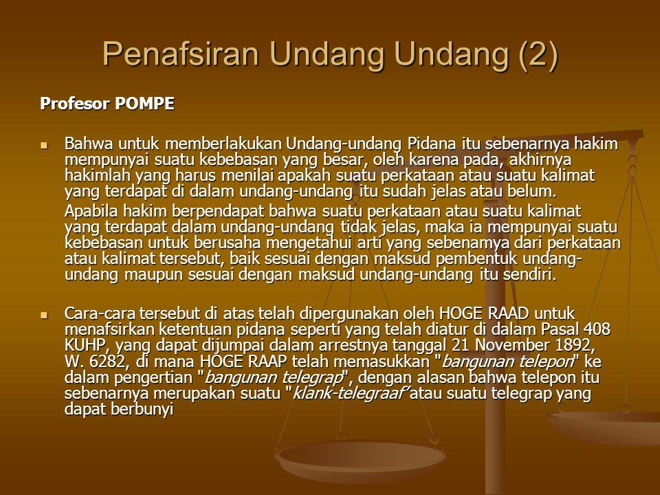 Penafsiran Undang Undang (2)