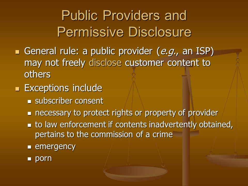 Public Providers and Permissive Disclosure