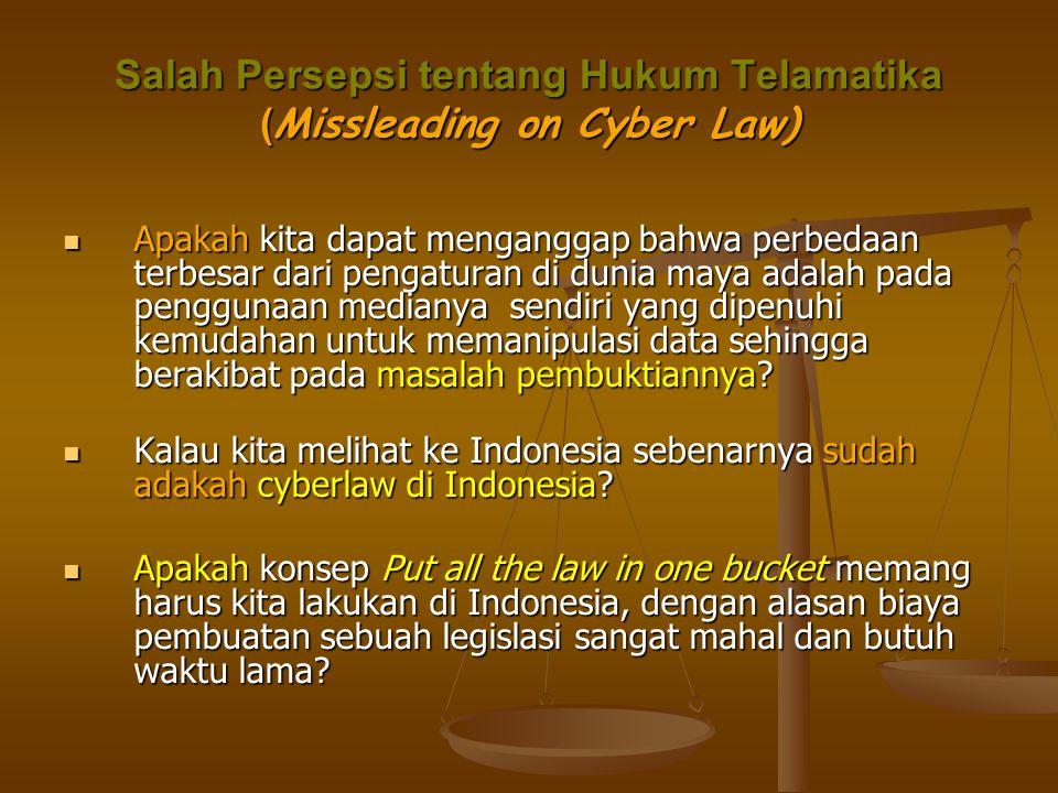 Salah Persepsi tentang Hukum Telamatika (Missleading on Cyber Law)