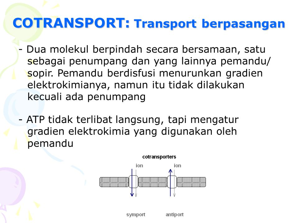 COTRANSPORT: Transport berpasangan