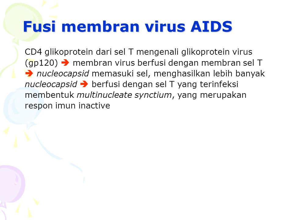 Fusi membran virus AIDS