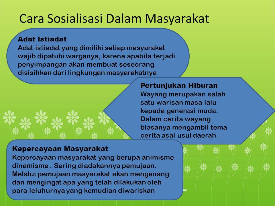 Cara Sosialisasi Dalam Masyarakat