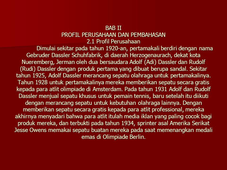 BAB II PROFIL PERUSAHAAN DAN PEMBAHASAN 2. 1 Profil Perusahaan