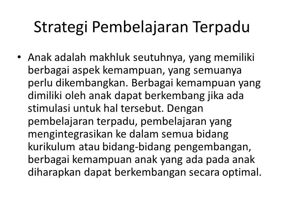 Strategi Pembelajaran Terpadu