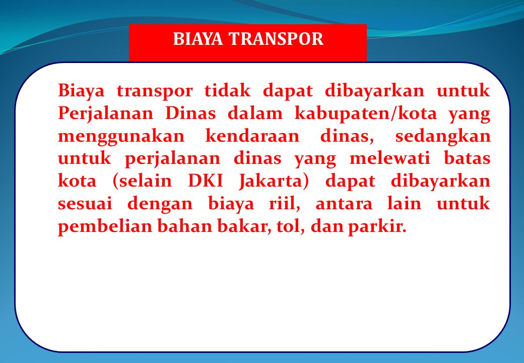 BIAYA TRANSPOR