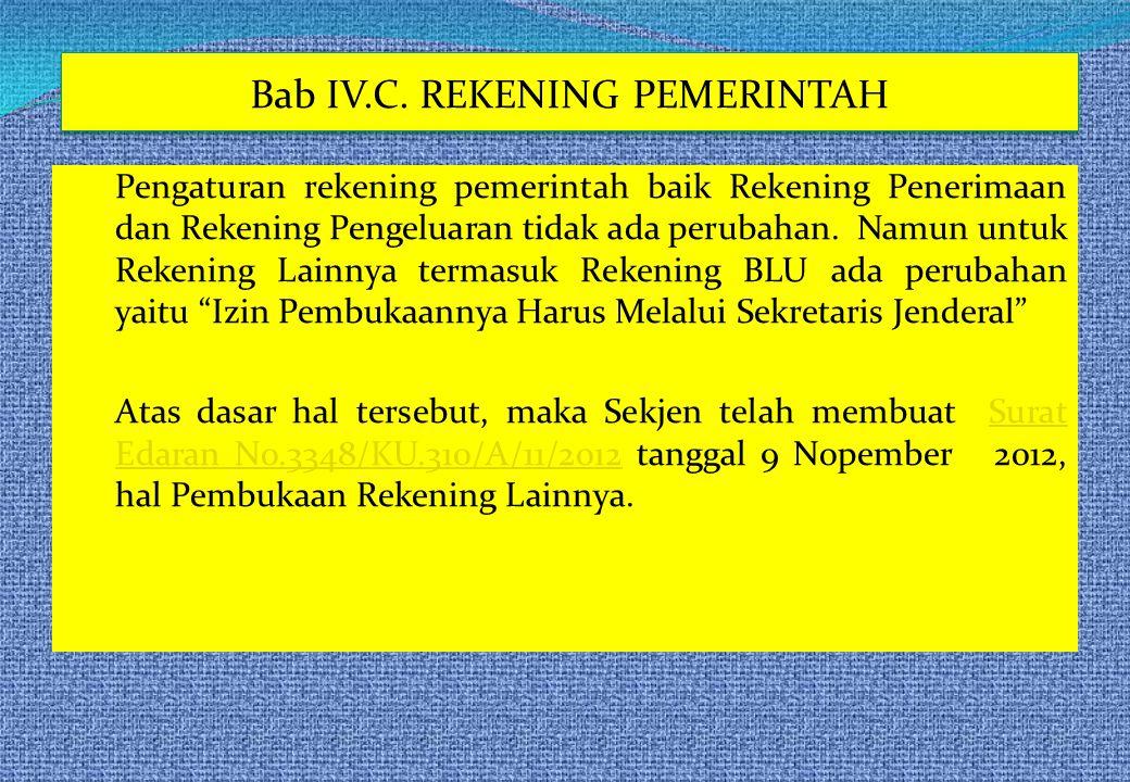 Bab IV.C. REKENING PEMERINTAH