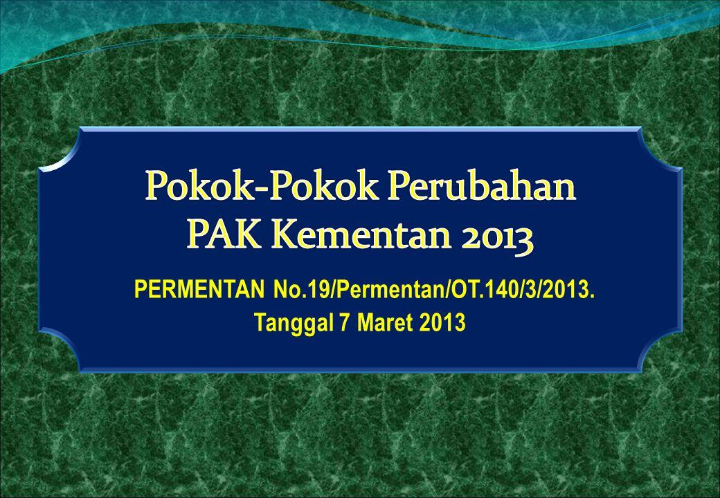 PERMENTAN No.19/Permentan/OT.140/3/2013.