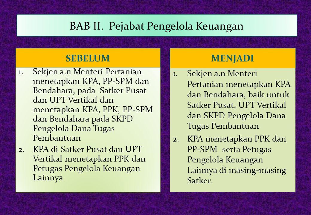 BAB II. Pejabat Pengelola Keuangan
