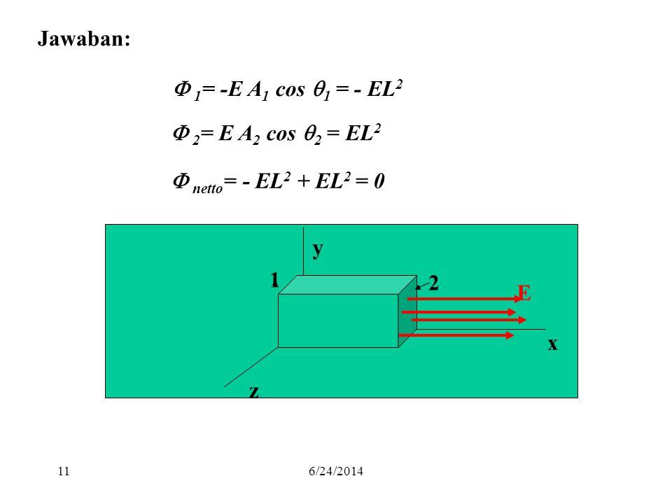 Jawaban:  1= -E A1 cos 1 = - EL2  2= E A2 cos 2 = EL2