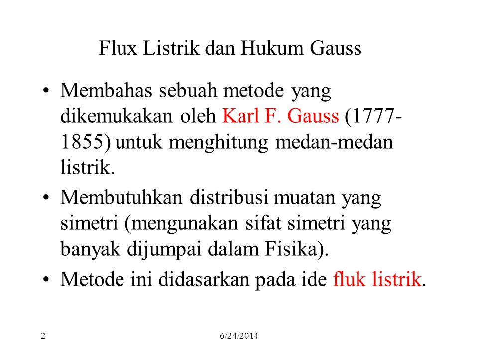 Flux Listrik dan Hukum Gauss
