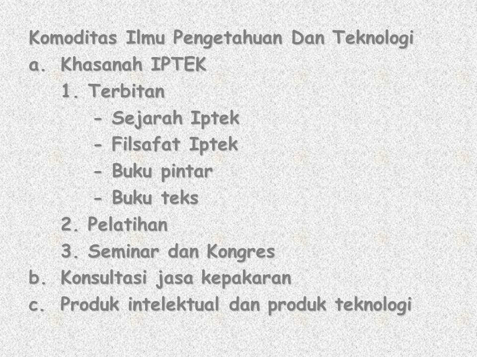 Komoditas Ilmu Pengetahuan Dan Teknologi