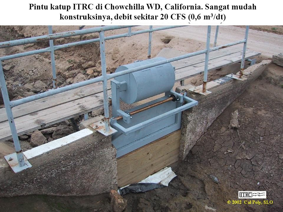 Pintu katup ITRC di Chowchilla WD, California