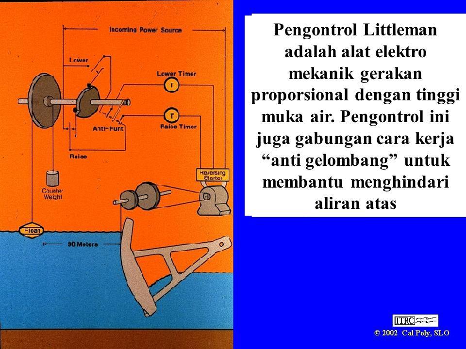 Pengontrol Littleman adalah alat elektro mekanik gerakan proporsional dengan tinggi muka air.