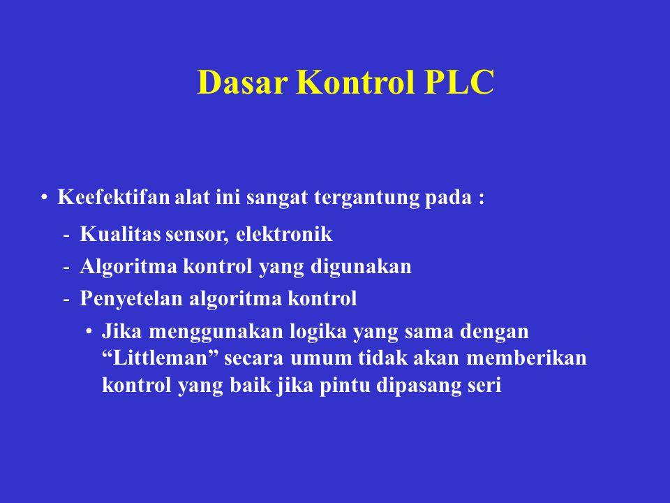 Dasar Kontrol PLC Keefektifan alat ini sangat tergantung pada :