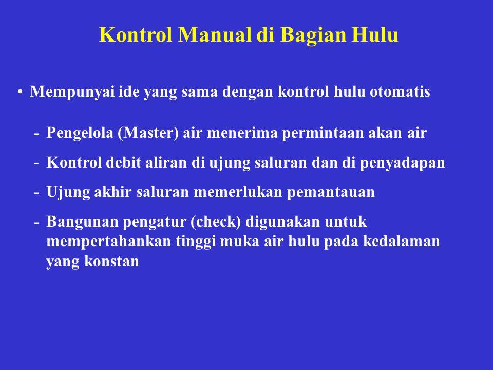 Kontrol Manual di Bagian Hulu