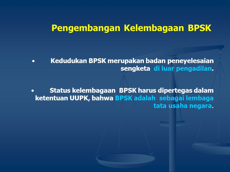 Pengembangan Kelembagaan BPSK
