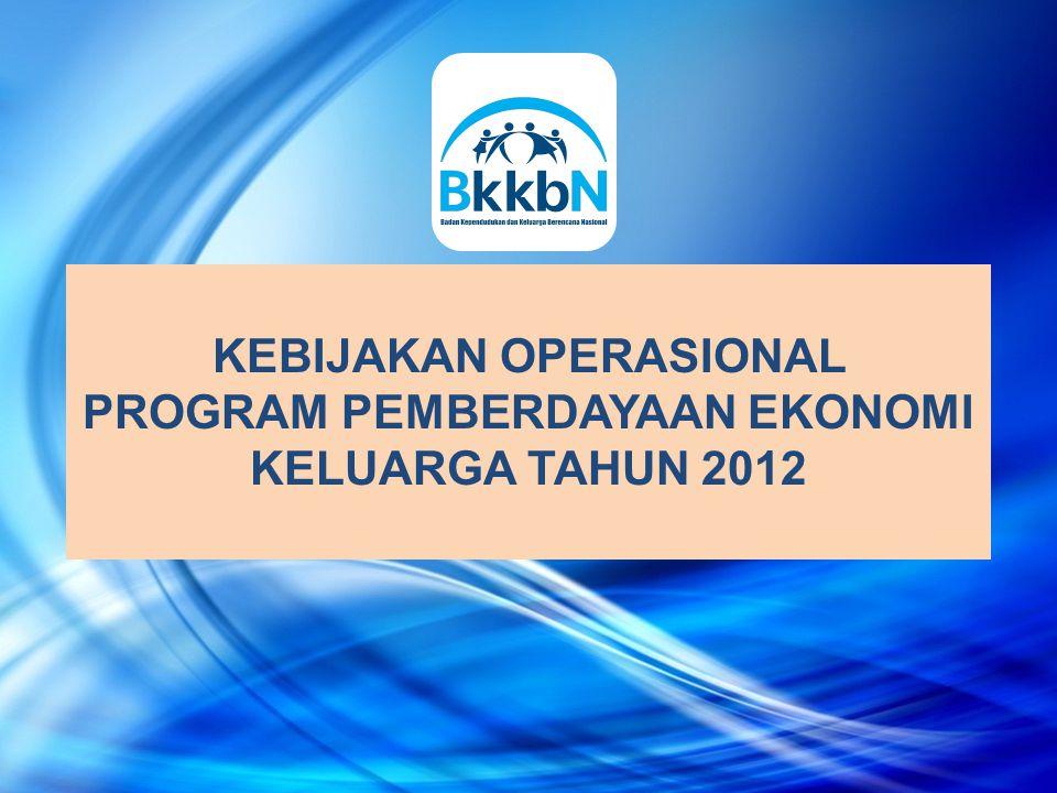KEBIJAKAN OPERASIONAL PROGRAM PEMBERDAYAAN EKONOMI KELUARGA TAHUN 2012