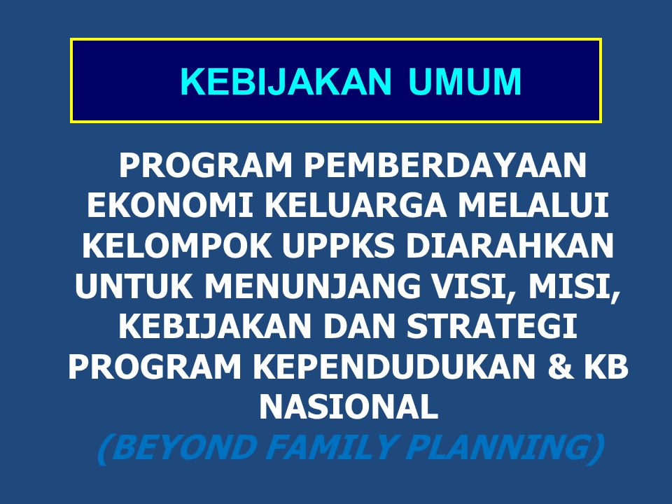 (BEYOND FAMILY PLANNING)