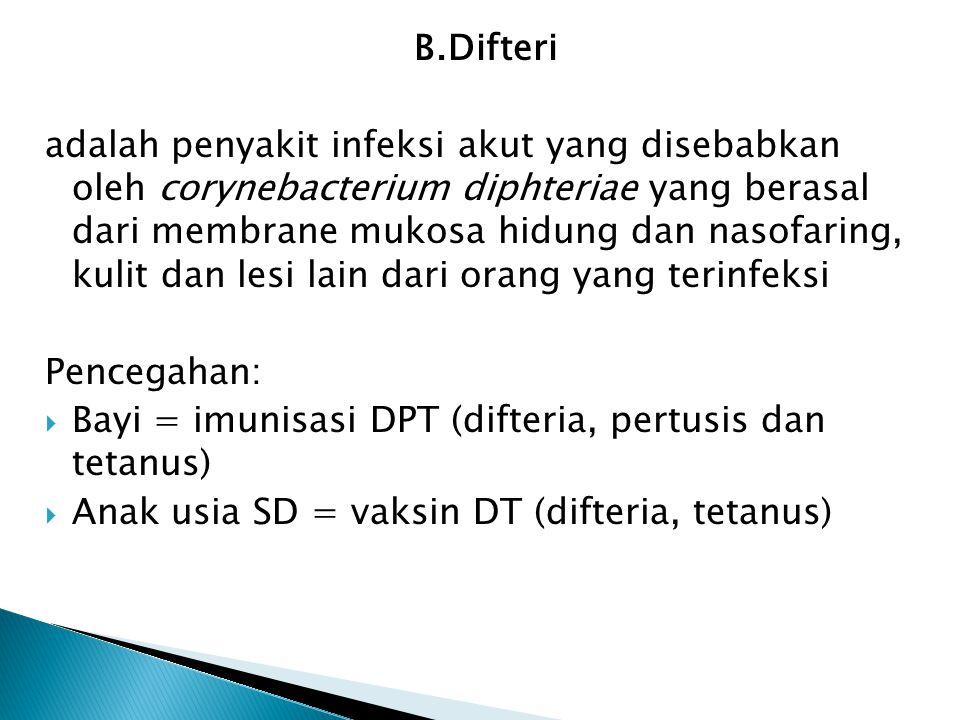 B.Difteri