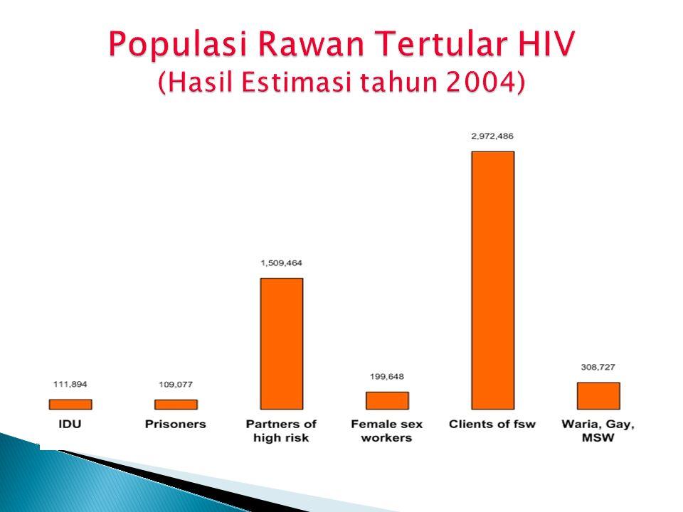 Populasi Rawan Tertular HIV (Hasil Estimasi tahun 2004)