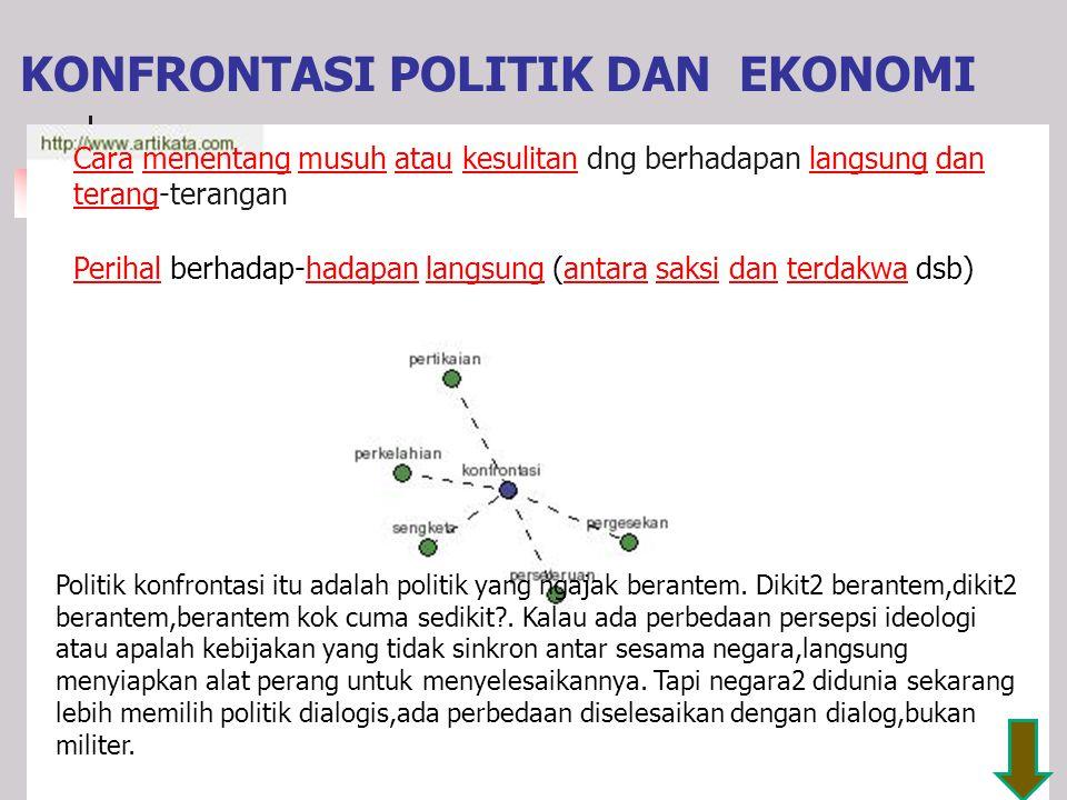 KONFRONTASI POLITIK DAN EKONOMI