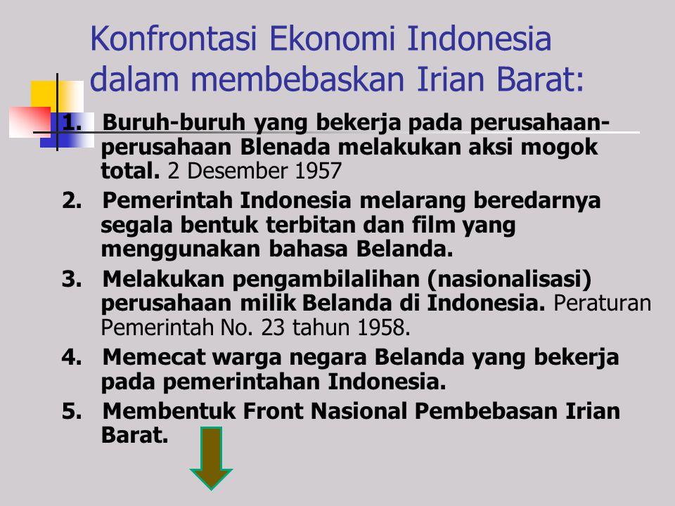 Konfrontasi Ekonomi Indonesia dalam membebaskan Irian Barat: