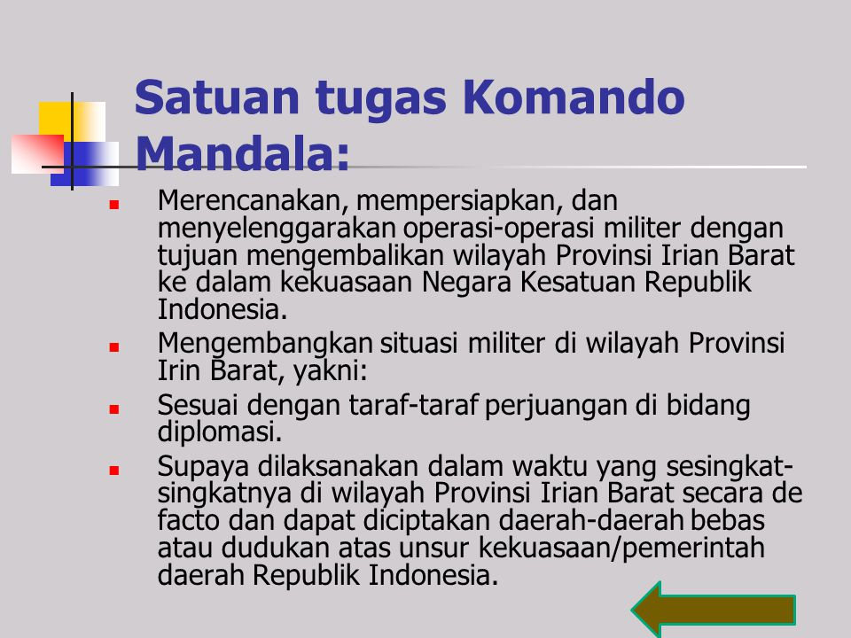 Satuan tugas Komando Mandala: