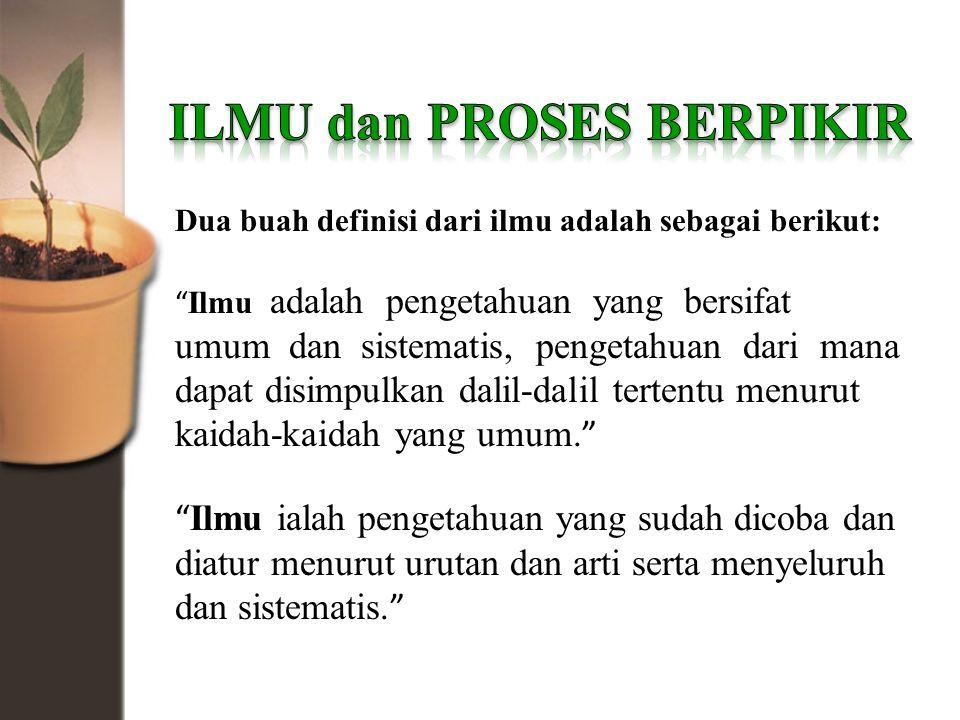 ILMU dan PROSES BERPIKIR