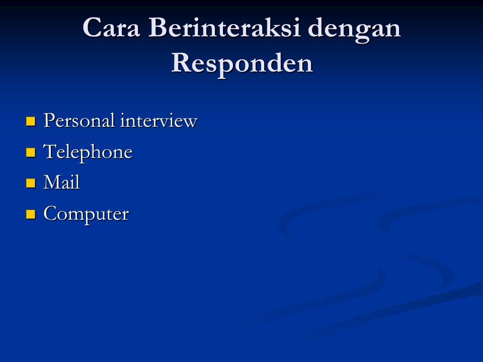 Cara Berinteraksi dengan Responden