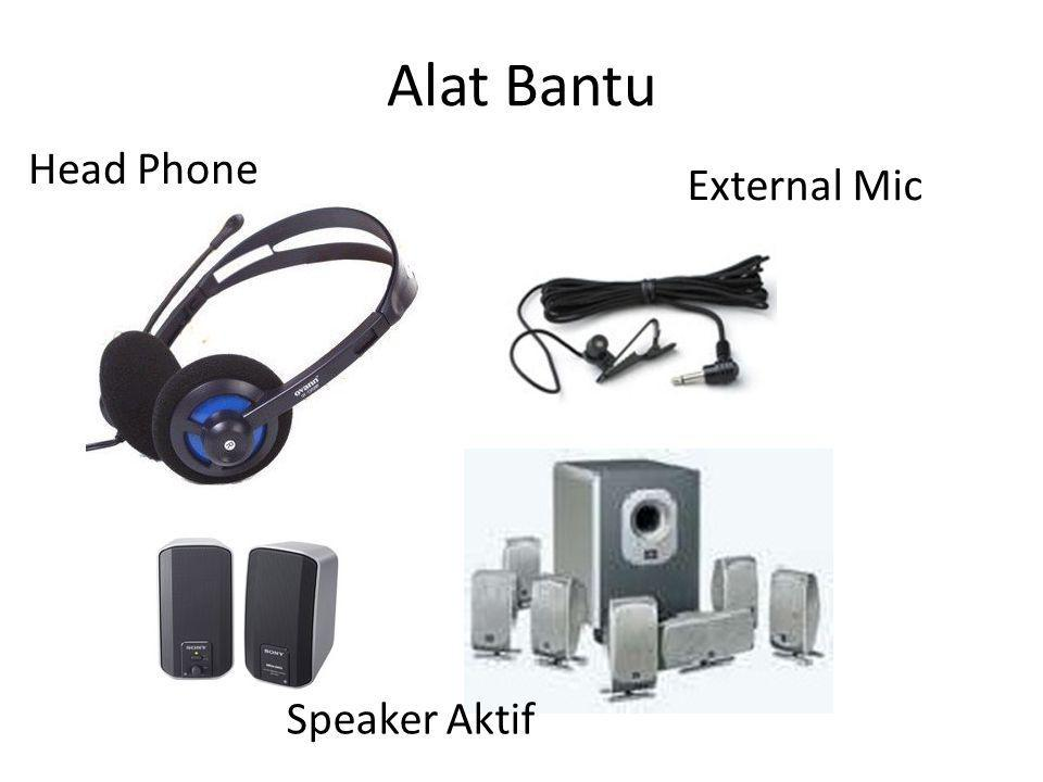 Alat Bantu Head Phone External Mic Speaker Aktif